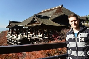 At the  Kiyomizu temple