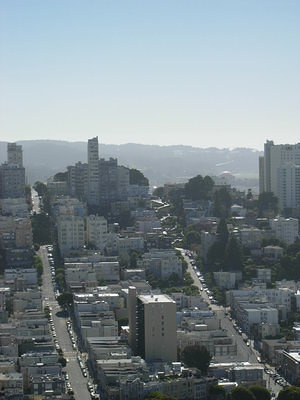Lombard Street, as seen from Coit Tower