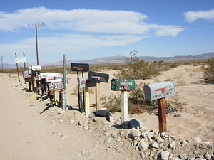 Mailboxes on the road