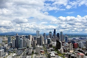 Seattle Downtown, from Space Needle