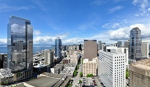 Seattle Tower stitched