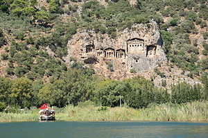 Lycian tombs at Dalyan