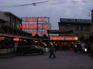 Pike Place Market abends
