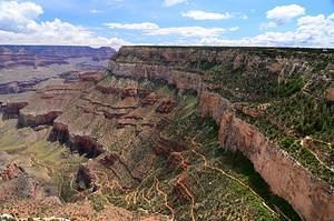 Bright Angel Trail at the Grand Canyon