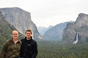 Sanne and me at Yosemite Valley