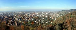 Freiburg in the Fall, partial panorama