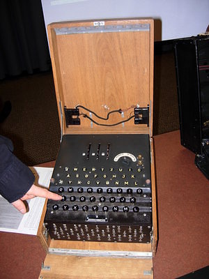 Three-rotor Enigma machine
