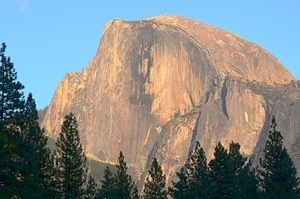 Half Dome in the evening sun