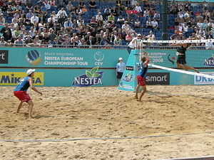 The German team in the European Beach Volleyball Championship