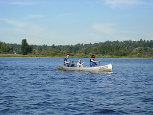 Canoeing auf dem Lake Washington